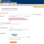 Blogger - custom domain - DNS error