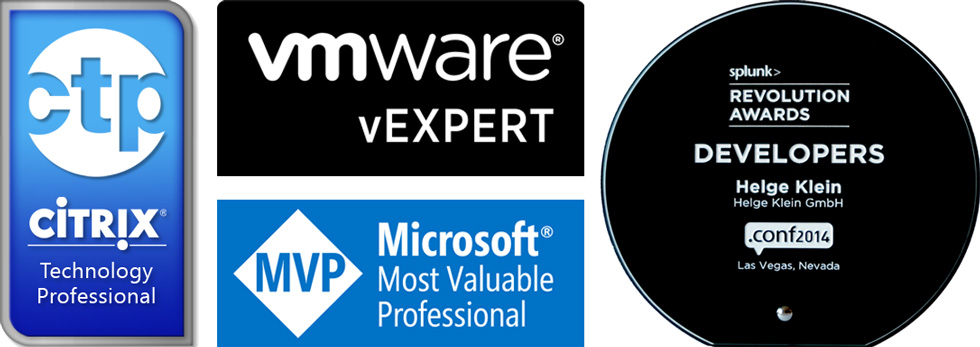 Helge Klein - Citrix CTP, Microsoft MVP, VMware vExpert, Splunk Revolution 980x347