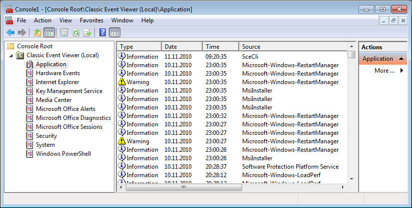 View Error Log Windows 7: How To Get Back Windows XP's Fast Event Viewer In Windows