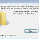Explorer - File name too long