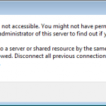 No access to admin share