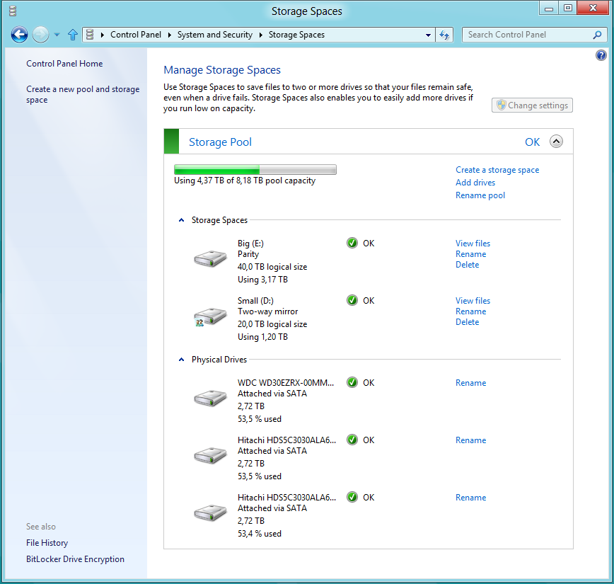Windows 8 Storage Spaces - a First(-Hand) Look at