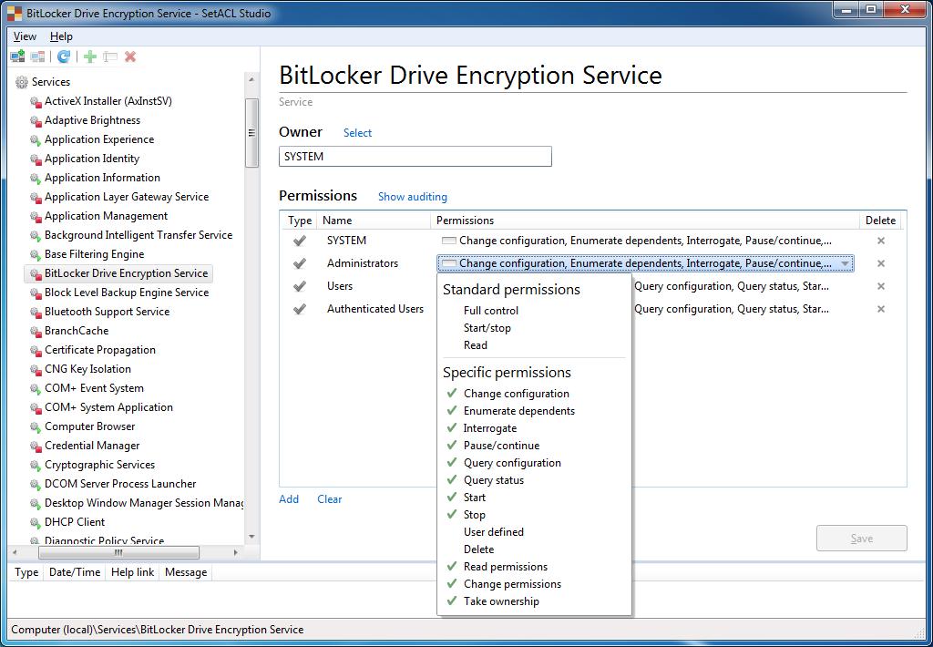 Solved: Disabling the BitLocker Service via GPP Fails