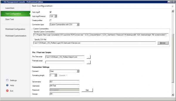 Login VSI Custom Commandline with CSV