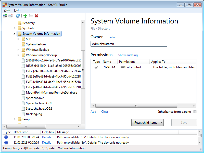 How to Determine the Size of the System Volume Information