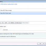 Client USB device redirection rules