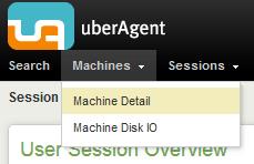 uberAgent menu - machine detail selected