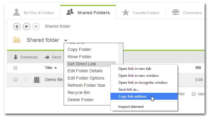 Get Citrix ShareFile folder ID