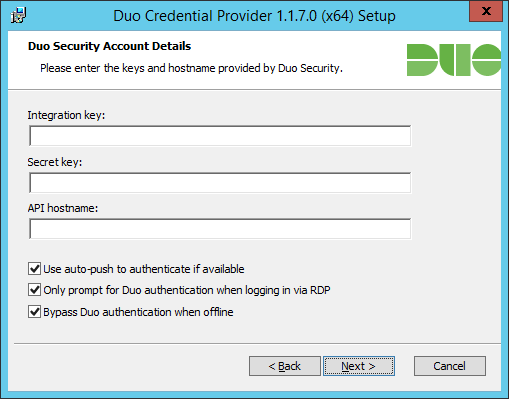 Duo for Windows installation