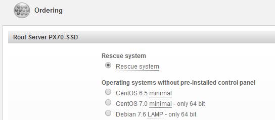 Ordering the Hetzner PX70-SSD