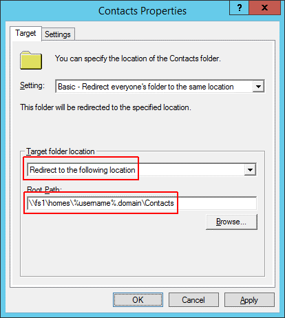 Folder redirection - Second home directory 2