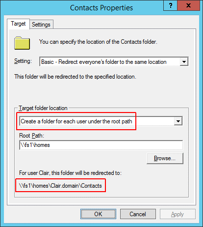 Folder redirection - Second home directory 3