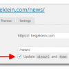 WordPress subsite - update siteurl