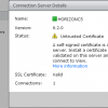 VMware Horizon Connection Server details