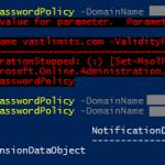 Set-MsolPasswordPolicy